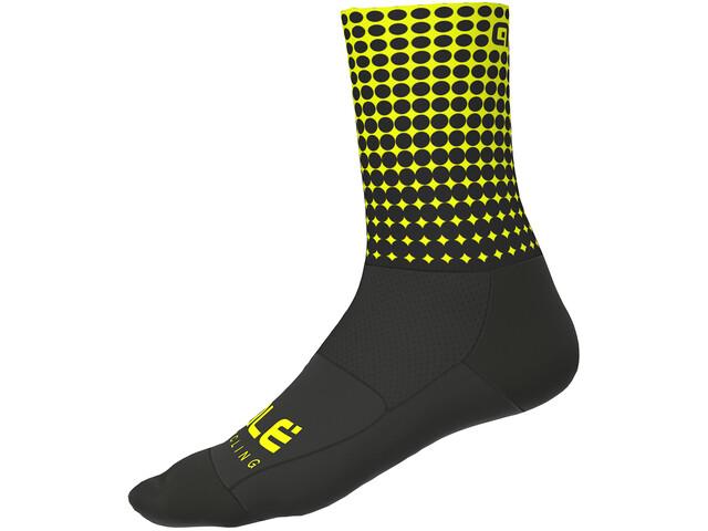 Alé Cycling Dots sukat 16cm, black flou yellow